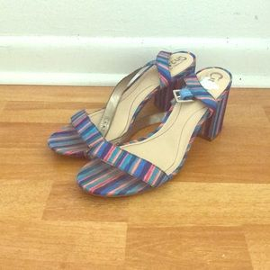 Multicolored Striped Sandals